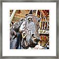 Carousel Horse Head Framed Print