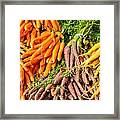 Carrots At The Market Framed Print