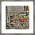 Cart And Flowers In Slovenia Framed Print