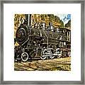 Cascade Mountain Train Framed Print