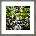 Cascading Waterfall And Pond Framed Print by Elena Elisseeva