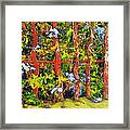 Cat And Fence Framed Print