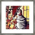 Cat And The Fiddle Framed Print