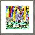 Cat Family - In The City Framed Print
