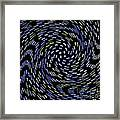 Cat Tail Swirl Framed Print