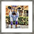 Catching Bull Framed Print by Emily Kay