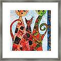 Cats 737 - Marucii Framed Print