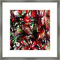 Caught In The Crowd Two Water Color And Pastels Wash Framed Print