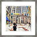 Caught In The Geometry Of Boylston Street Framed Print