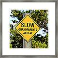 Caution Sign Framed Print
