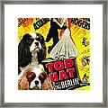 Cavalier King Charles Spaniel Art - Top Hat Movie Poster Framed Print