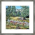 Cazadero Farm And Flowers Framed Print