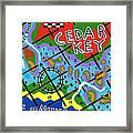 Cedar Key Chart Framed Print