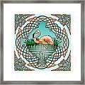 Celtic Flamingo Art Framed Print