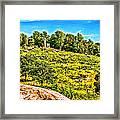 Cemetary Ridge Gettysburg Battleground Framed Print