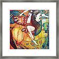 Centaur In Love Framed Print