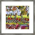 Central Michigan Football Collage Framed Print