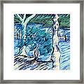 Central Park Blues Framed Print