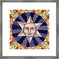 Ceramic Star Framed Print by Anna Skaradzinska