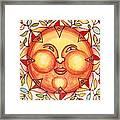 Ceramic Sun 2 Framed Print by Anna Skaradzinska