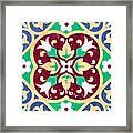 Ceramic Tile Closeup Framed Print