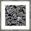 Charcoal Framed Print by Olivier Le Queinec