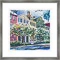 Charleston's Rainbow Row Framed Print by Alice Grimsley