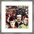 Charlie And Friends Tries To Blend In With The Crowd 5d23867 Framed Print