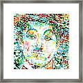 Charlie Chaplin - Watercolor Portrait Framed Print