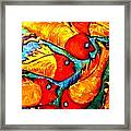 Chasing Red Fish Framed Print
