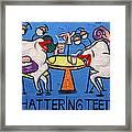 Chattering Teeth Dental Art By Anthony Falbo Framed Print