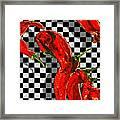 Checker Peppers Framed Print