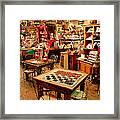 Checkers At Jefferson General Store Framed Print