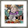 Chef With Heart Framed Print