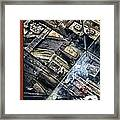 Chicago A View From The Top Of Sears Willis Tower Hdr Triptych 3 Panel Framed Print