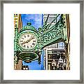 Chicago Clock Hdr Photo Framed Print