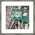 Chicago Clock On Macy's Marshall Field's Building Framed Print