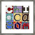 Chicago Picasso Squares Framed Print by Carla Bank