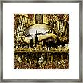 Chicago Skyline Drawing Collage 3 Framed Print