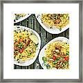 Chicken Noodles Framed Print by Tom Gowanlock