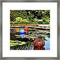 Chihuly Ball Lily Pond Framed Print
