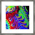 Chinese Tapestry Abstract Framed Print
