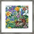 Chipmunk Garden Framed Print