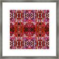 Chive Abstract Red Framed Print