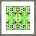 Chive Abstract Green Framed Print