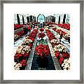 Christmas Card Sunken Garden Framed Print