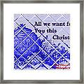 Christmas Cards And Artwork Christmas Wishes 54 Framed Print
