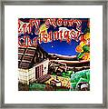 Christmas Greeting Card Iv Framed Print
