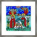 Christmas Icon Religious Naive Folk Art Nativity Framed Print