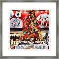 Christmas In The Train Station Framed Print